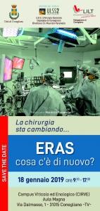 La chirurgia sta cambiando... ERAS cosa c'è di nuovo? - Presidente: M. Pavanello