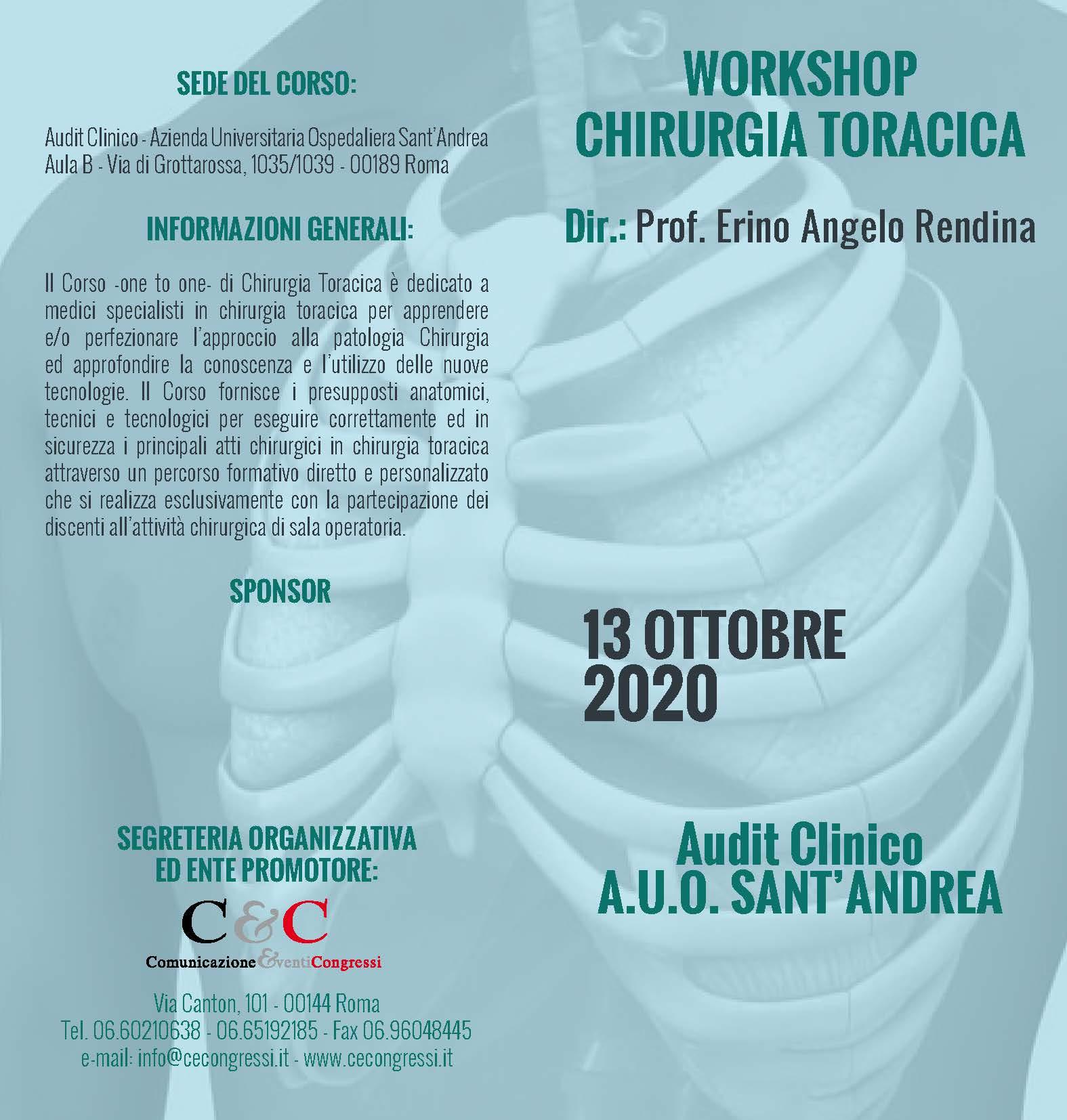 Workshop Chirurgia Toracica – Presidente E. A. Rendina
