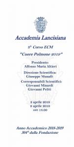 """3° Corso ECM """"Cuore Polmone 2019"""""""