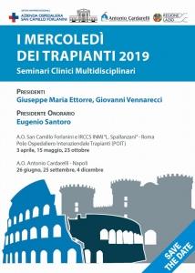 I MERCOLEDI' DEI TRAPIANTI 2019 Seminari Clinici Multidisciplinari
