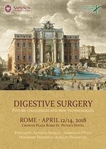 Digestive Surgery. Future challenges and new technologies - Presidenti: A. Brescia, D. D'Ugo