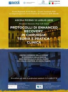"""Protocolli di Enhanced Recovery in chirurgia: teoria e pratica clinica"""" - Presidente: M. Catarci"""