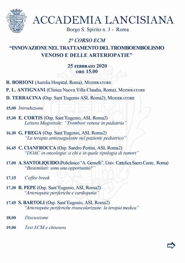 Innovazione nel Trattamento del Tromboembolismo Venoso e delle Arteriopatie