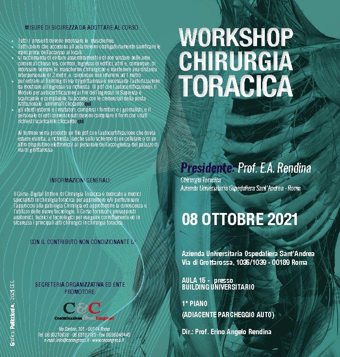 Workshop Chirurgia Toracica - 08 Ottobre 2021