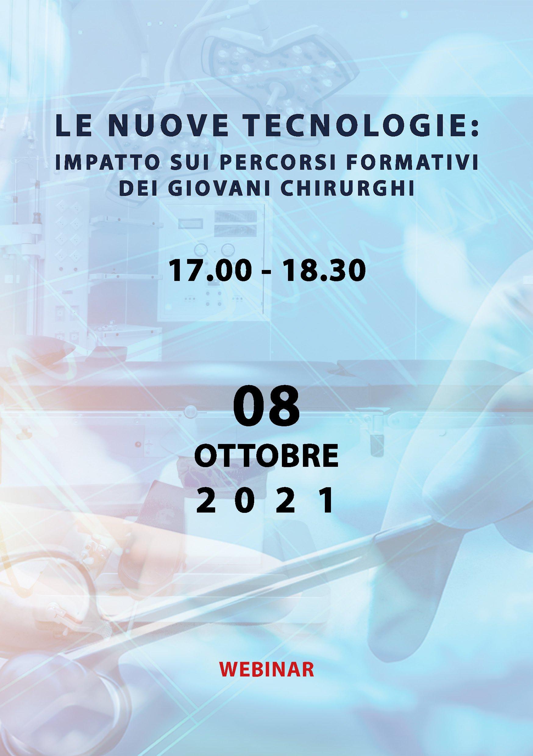 Le nuove tecnologie: Impatto sui percorsi formativi dei giovani chirurghi | Webinar